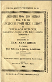 Sketches From Sikh History By  sikh sikhism