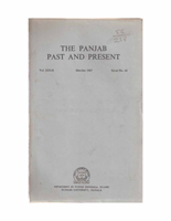 The Punjab Past and Present Vol XXI Part II