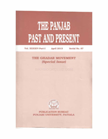 The Punjab Past and Present Vol XXXIV Part1