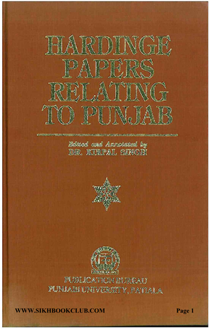 Hardinge Papers Relating to Punjab