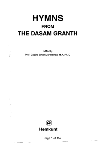 Hymns From The Dasam Granth