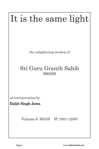 Sri Guru Granth Sahib Part 6