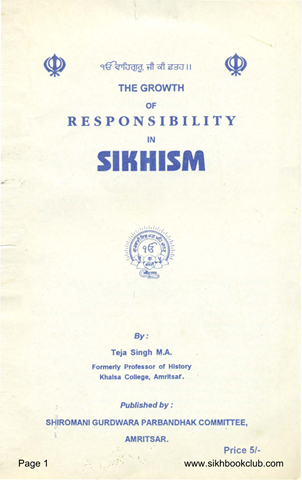 The Growth of Responsibility in Sikhism